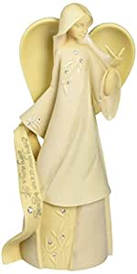Enesco Foundations April Monthly Angel Figurine, 7-1/2-Inch