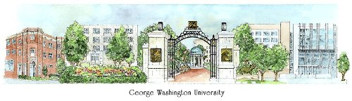 George Washington University - Collegiate Sculptured Ornament by Sculptured Watercolor Ornaments