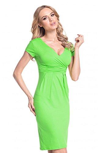 Robe Femme cache Robe Vert coeur Manche Glamour Empire courte fourreau 573 t effet qzFnX5Awp