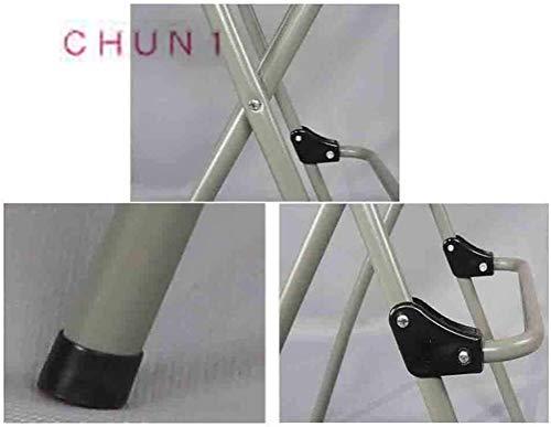 Förpackning med 2, stålram och polyetylen yta vikbar barstol ryggstöd hög stol114 1014 (storlek: vit)