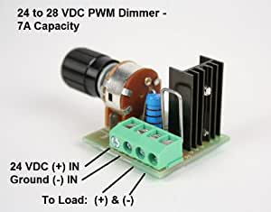 24 volt led pwm dimmer 7 amp capacity dc lighting dimmer controller for led. Black Bedroom Furniture Sets. Home Design Ideas