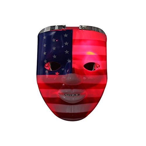 Aomeiqi USA Flag LED Light-Up Skull Mask-Unique 2