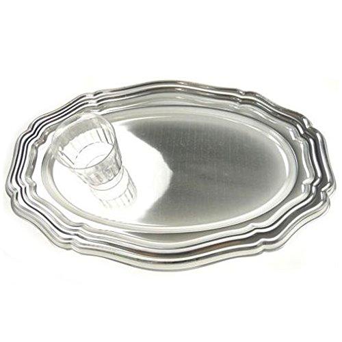 - Homeford Heavy Duty Banquet Dinner Dining Reflective Metallic Plastic, Silver, 16-Inch