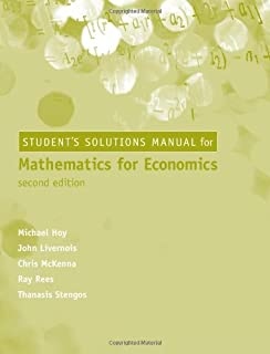 Buy mathematics for economics 2e book online at low prices in india mathematics for economics student solutions manual 2e fandeluxe Images