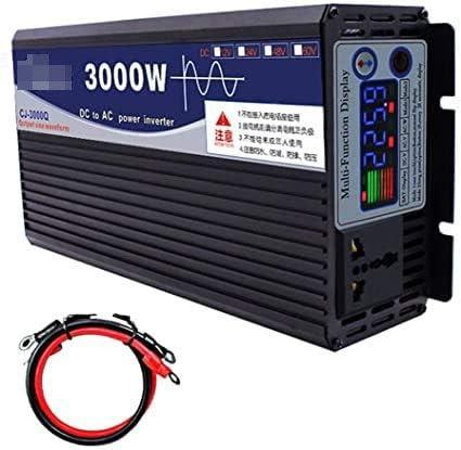 600W / 1000W / 2000W / 3000W / 4000W / 5000W / 6000W Inversor de la onda sinusoidal pura DC DC 12V / 24V a AC 220V Inversor de potencia de alta eficiencia para autocaravanas, camión, barco, camping, h