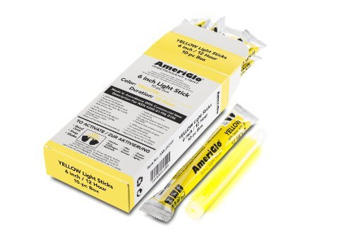 Yellow 12 Hr 6'' Light Stick Ameriglo Security AML612HY10 644406651055 by AmeriGlo (Image #1)