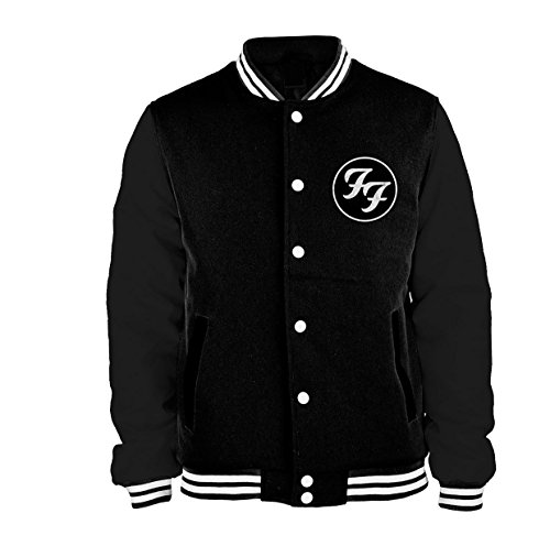 Negro Initials Cazadora Tipo Universitario Foo Negro Fighters TpxqpX