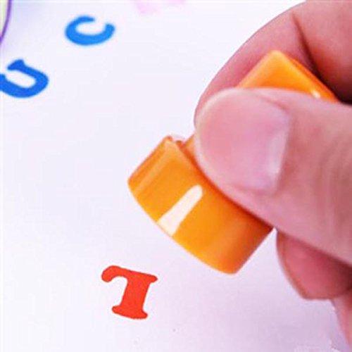 26 pi/èces A /à Z PIXNOR Tampons Lettres Sceau Alphabet Encre Cachet Tampon Artisanat Enfant Jouet