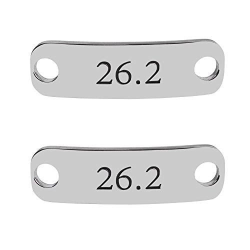Rantanto 1 Pair Shoe Lace Tag Inspirational Shoe Lace Charm For Female (WL0322 Marathon 26.2)