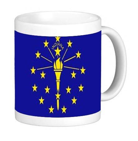 - Indiana State Flag 11 ounce Ceramic Coffee Mug Tea Cup