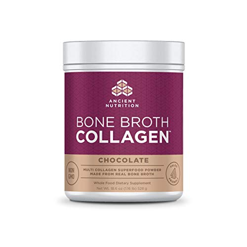 Ancient Nutrition Bone Broth Collagen Powder 30 Servings of All-Natural Protein Powder Loaded with Bone Broth Co-Factors (Chocolate, 30 Servings) ()