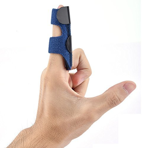 Finger Splint Adjustable Trigger Support Brace With Aluminum Bar for Maximum Comfort Universal