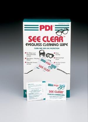 Pdi See Clear Eye Glass Cleaning Wipes 120 Per Box - Pre-moistened wipes, Anti-fog and anti-static formula., 120/bx, 12 bx/cs by - Eyeglasses See