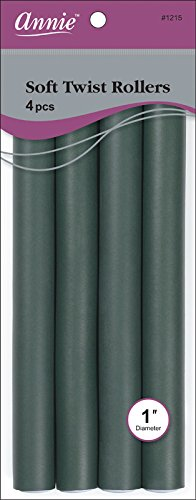 (Annie Soft Twist Rollers, Dark Green, 4 Count)