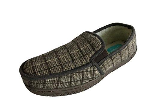 Response - Zapatillas de estar por casa de ante para hombre marrón a cuadros