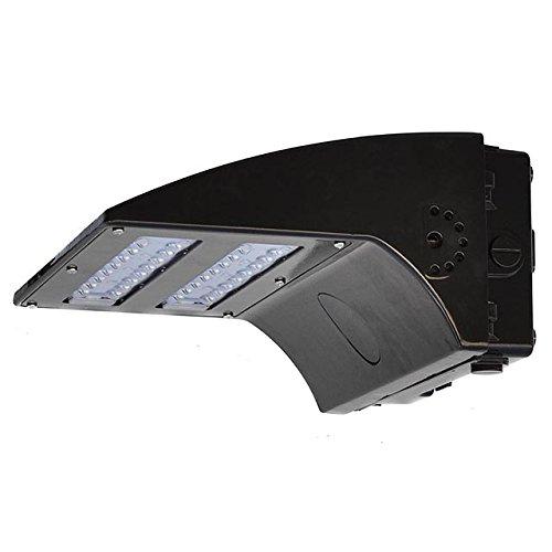 LEDwholesalers 80-Watt Full Cutoff LED Wall Pack Outdoor Light Fixture, UL-Listed, 100-277VAC, Daylight 5000K, 3767WH by LEDwholesalers