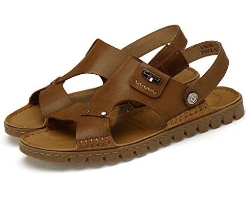 GAOJIAN Outdoor Fashion Soft Anti - Rutsch - Sandalen Wasserdichte Pantoffeln Dual - Use Schuhe Leder Hand - Genähte Leder Schuhe Herren Schuhe 37-46