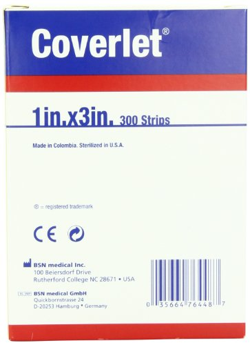 Jobst Beiersdorf Coverlet Fabric, 1x3 Strip, Latex Free, 300-Count