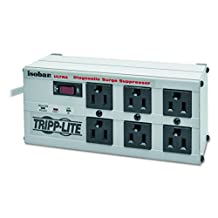 Tripp Lite Isobar Surge Protector Metal 6 Outlet 6-Feet Cord 3330 Joules, White (ISOBAR6ULTRA)