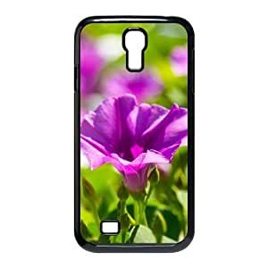 violet flowers 7 Samsung Galaxy S4 Cases, Funny Design Case For Samsung Galaxy S4 Bloomingbluerose {Black}