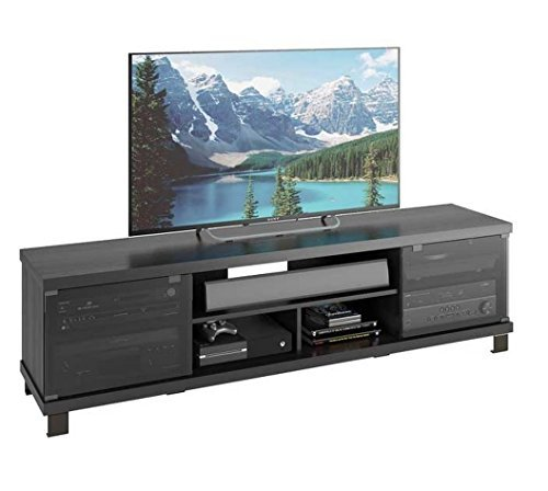 sonax b 207 cht holland extra wide tv component bench ravenwood black buy online. Black Bedroom Furniture Sets. Home Design Ideas