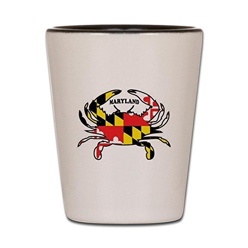 CafePress - MARYLAND CRAB - Shot Glass, Unique and Funny Shot Glass -