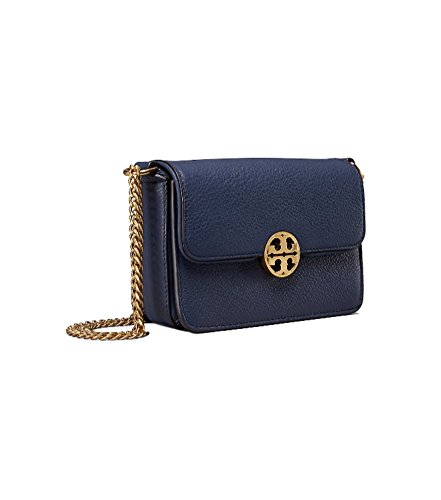 Tory Burch Chelsea Mini Leather Crossbody (Royal - Sale Tory Burch Outlet