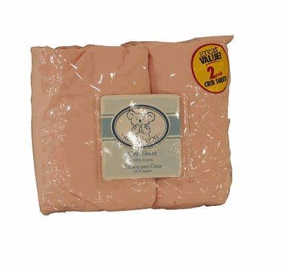 Koala Baby Crib Sheet 2-Pack - Solid colors (Pink)