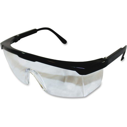 Impact Products Adjustable Safety Eyewear - Visibility Protection - Black, Clear - 12 / Box PGD7334B