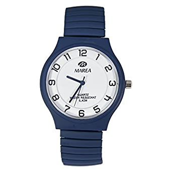 364ffdccc12 Marea Nineteen M Unisex Wrist Watch Elastic B35245 16  Amazon.co.uk  Watches