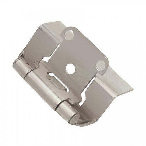 Hickory Hardware P5710F-SN Semi-Concealed Hinge (Pair) - Satin Nickel - 2 Pack (Wrap Overlay Hinge Semi)