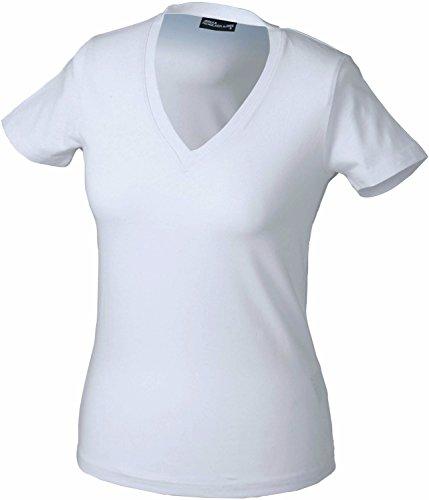 James & Nicholson Damen T-Shirt JN004 White c0lRsM