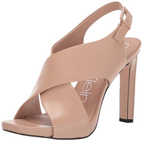 Calvin Klein Women's MYRA Pump, Desert Sand Leather, 8 M US