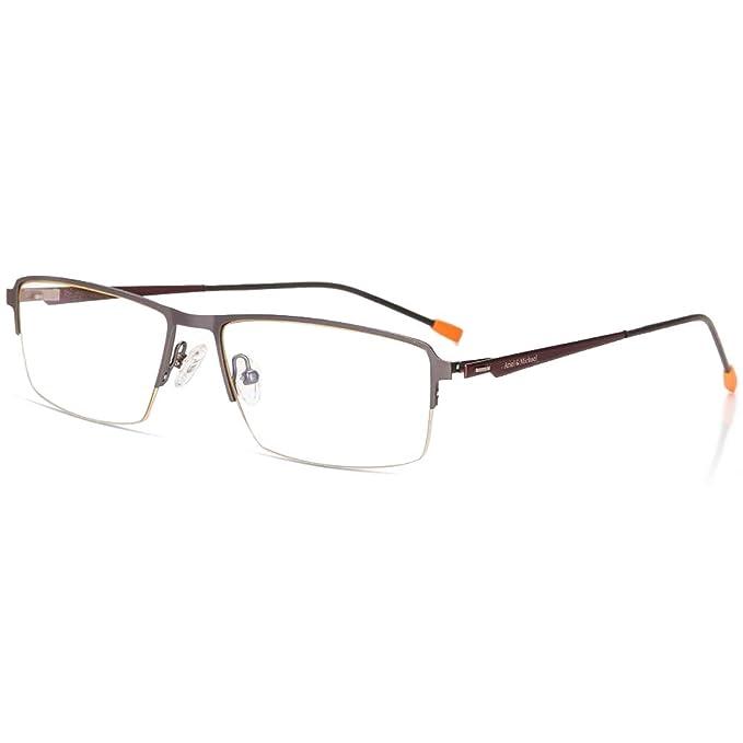 e23d3d699c Gafas de Ordenador, Gafas Lectura Protección Anti Luz Azul Anti Fatiga -  Marco de Aleación de Titanio ...