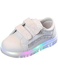 Toddler Running Shoes,Kehen Fashion Toddler Boys Girls Led Light Up Sneakers Kids Luminous Leather Sport Shoes