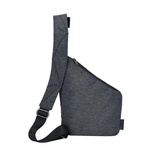 Clode® Herren Umhängetasche wasserdichte Nylon Brusttasche Messenger Bag schwarz YT5ObvF3