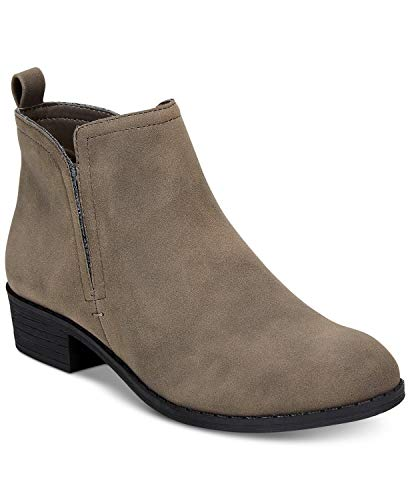 American Rag Womens Cadee Faux Leather Ankle Booties Taupe 8.5 Medium (B,M) from American Rag