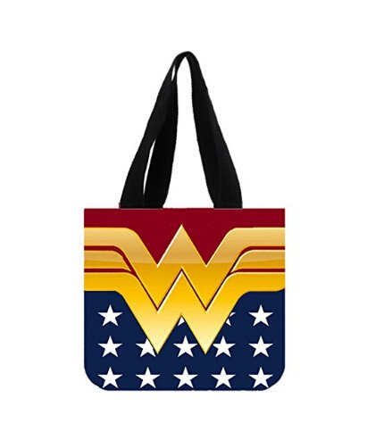 Emana Handbags Custom Wonder Women Canvas Tote Bag Shoulder Bag shoulder handbags (2 (Custom Totes)