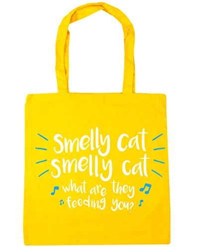Tote 42cm smelly 10 Shopping Beach Gym feeding they are HippoWarehouse Smelly cat cat x38cm Yellow what litres you Bag zwaagE6q