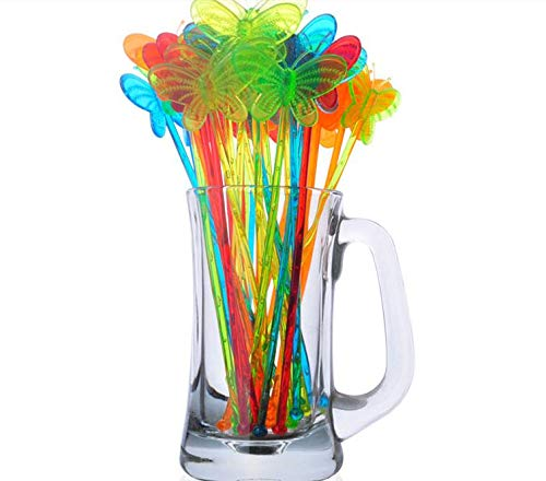 Muddler Cocktails Kitchen Dining Barware Bar Tools Candy Color Transparent Acrylic 60pcs/lot by Mehtah Store