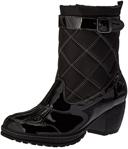 Jambu Women's Dover-Vegan Rain Boot, Black Patent, 7.5 M US