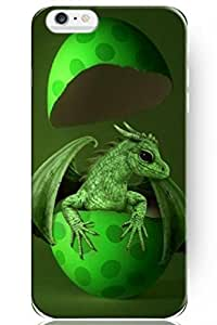 SPRAWL New Classic Charming Design Personalized Hard Plastic Snap on Slim Fit Iphone 6 Plus Case 5.5 Inch New Born Green Dragon