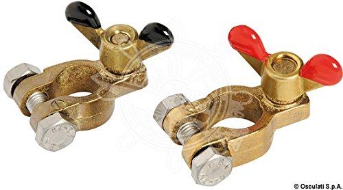 Osculati Coppia morsetti per batteria Pair of Bronze Battery Clips
