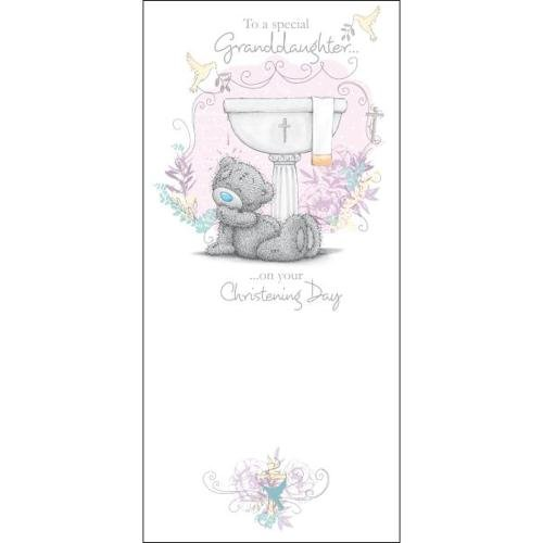 Me to You Granddaughter Christening Card