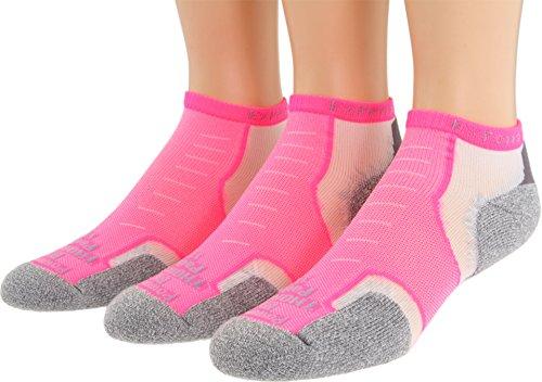 (Thorlos Unisex Experia Micro Mini 3-pair Pack Electric Pink Small)