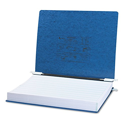ACCO - Pressboard Hanging Data Binder, 14-7/8 x 11 Unburst Sheets, Dark Blue - Sold As 1 Each - Top and bottom loading binder expandable for various sized ()