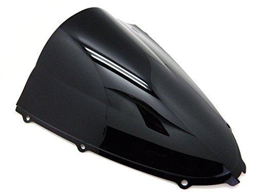 (9sparts Black | Clear | Smoke Double Bubble ABS Plastic Injection Windscreen Windshield For 2006 2007 2008 2009 2010 2011 2012 2013 2014 2015 2016 2017 Kawasaki Ninja ZX14 ZX14R ZX1400 C A E F (Black))