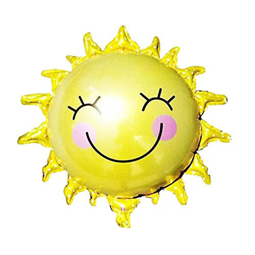 dufu-beauty-store Sun Smile Foil Mylar Balloon for Birthday Party Wedding Decoration]()