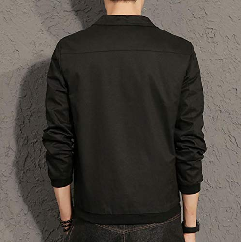 Buckle Fitted Mogogo Solid Jackets Black Mens Oversized Fashion Juniors qwxTCAxER
