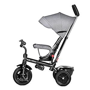 2f75fd925d6 besrey 4 in 1 Kid's Trike Convertible Kids' Tricycle Detachable Learning  Tricycle - Gray